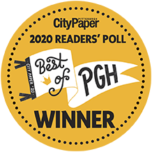 award for City Paper best of Pittsburgh reader's poll